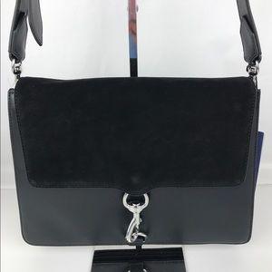 New Rebecca Minkoff M.A.B. Leather Shoulder Bag.